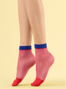 Цветные капроновые женские носочки на лето 8 den