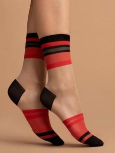 Женские капроновые носки 15 DEN с модными цветными зонами