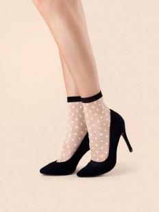 Женские капроновые носки в горошек Fiore BUBBLE GUM 20
