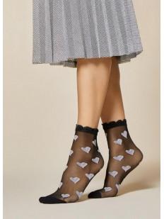 Женские капроновые носки с сердечками Fiore LULLABY 20