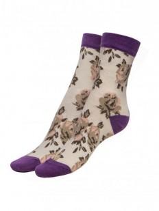Хлопковые женские носки с принтом Fiore ROSES 100