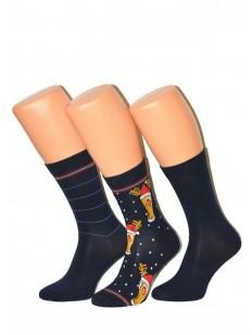 Набор новогодних мужских носков из хлопка