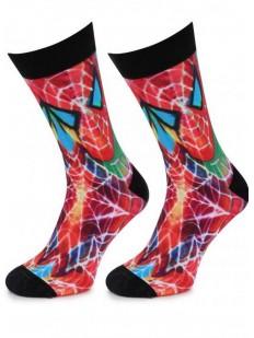 Высокие мужские носки с цветным принтом Человек-паук