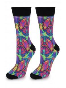 Высокие цветные мужские носки с лазерным принтом