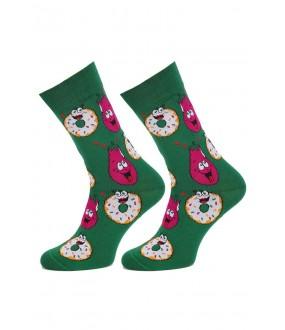 Цветные хлопковые мужские носки с пончиками