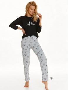 Женская брючная пижама из хлопка с принтом зебра