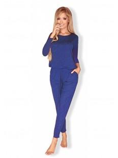 Женский трикотажный домашний комбинезон с брюками