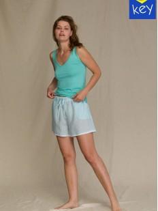 Женская летняя пижама: майка и шорты из хлопка и вискозы
