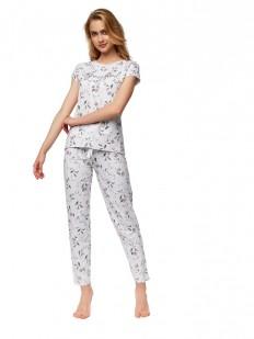 Хлопковая пижама с цветочным принтом ESOTIQ