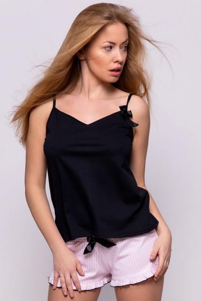 Женская летняя пижама с шортами в полоску Sensis DONNA