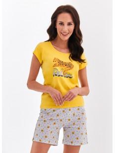 Женская хлопковая пижама с шортами летняя