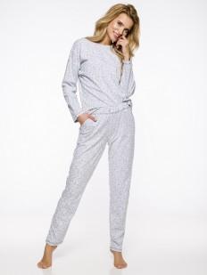 Женская телпая хлопковая пижама со штанами с карманами