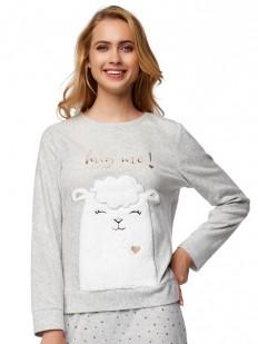 Женская теплая прикольная пижамная кофта с ламой