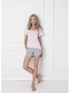 Женская летняя хлопковая пижама с шортами