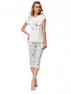 Хлопковая цветочная пижама с бриджами ESOTIQ