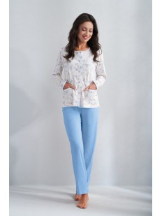 Хлопковая женская пижама с карманами
