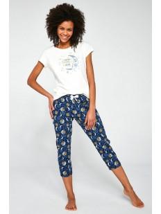 Женская пижама 3 в 1: футболка, шорты и укороченные брюки с лунным принтом