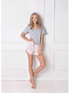 Пижама с шортами ARUELLE Q grey