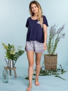 Женский домашний трикотажный комплект с шортами и футболкой
