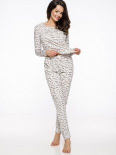 Хлопковая женская теплая пижама с брюками