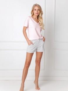 Летняя женская пижама из хлопка с цветочными шортами и футболкой