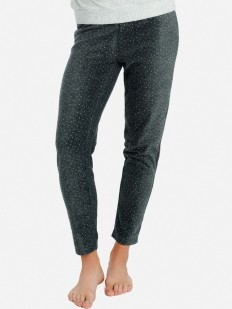Домашние женские штаны из микрофлиса в горошек