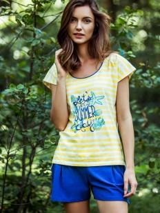 Летняя женская яркая пижама из хлопка KEY LNS