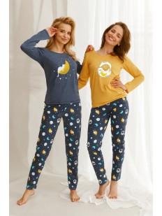 Женский пижамный комплект с космическим принтом