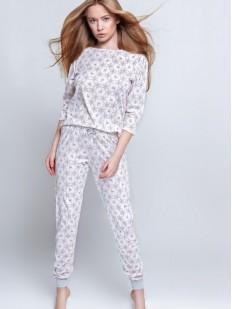Женская хлопковая пижама: брюки и кофта с рождественским принтом