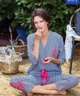 Клетчатая женская пижама с бриджами и рубашкой из вискозы