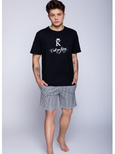 Летняя мужская пижама из хлопка с шортами