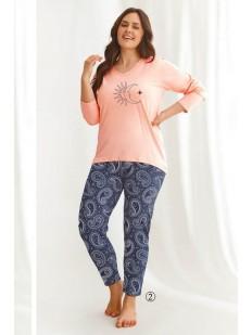 Женская пижама большого размера с принтом солнце и луна