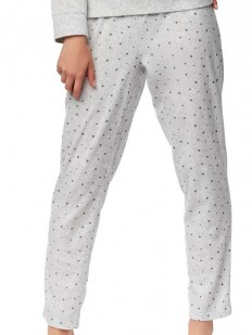 Женские домашние пижамные штаны с сердечками