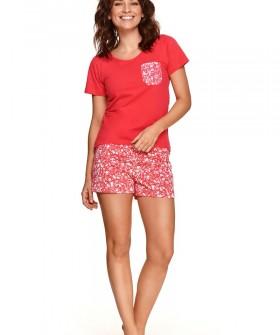 Летняя хлопковая пижама с шортиками и фуболкой