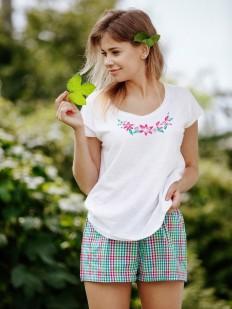 Домашний женский летний трикотажный комплект с шортами