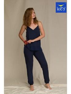 Женская пижама со штанами и топом из однотонного модала