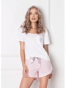Пижама с шортами ARUELLE Q white