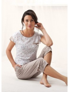 Хлопковая женская пижама из футболки с бриджами LUNA