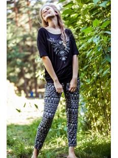Женская трикотажная пижама с брюками алладины