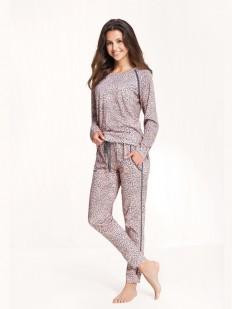 Последний товар!!! Леопардовая женская пижама со штанами и кофтой из хлопка