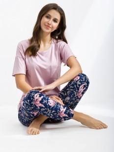 Женский трикотажный пижамный комплект с брюками
