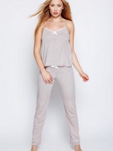Хлопковый женский пижамный комплект со штанами