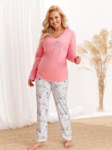Женская пижама с цветочным рисунком: штаны и кофта