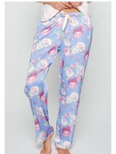 Женские домашние пижамные штаны с цветочным принтом