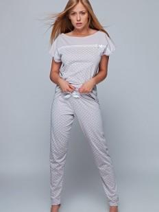 Хлопковая женская пижама в горошек со штанами