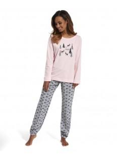 Хлопковая теплая женская пижама с брюками