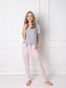 Теплая женская пижама со штанами зауженного кроя ARUELLE Q grey