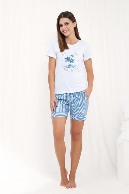 Летняя женская пижама из хлопка Luna 472