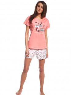 Хлопковая женская пижама с шортами и яркой футболкой Cornette