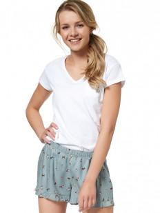 Женская летняя трикотажная пижама с шортами и футболкой